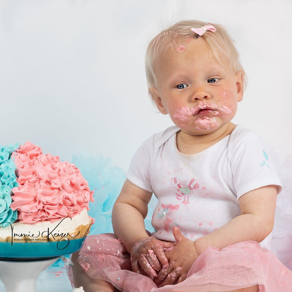 Meisje viert 1e verjaardag