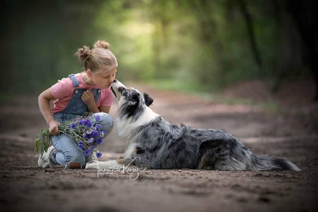 liefde tussen kind en hond
