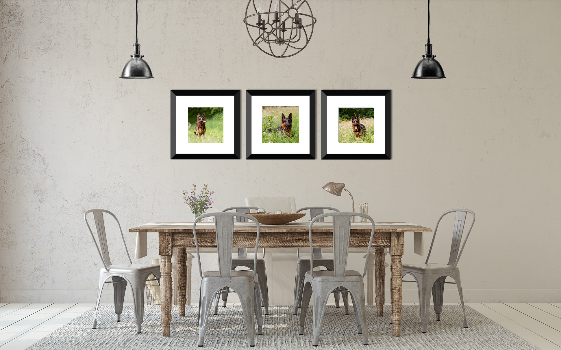 drieluik Duitse Herder