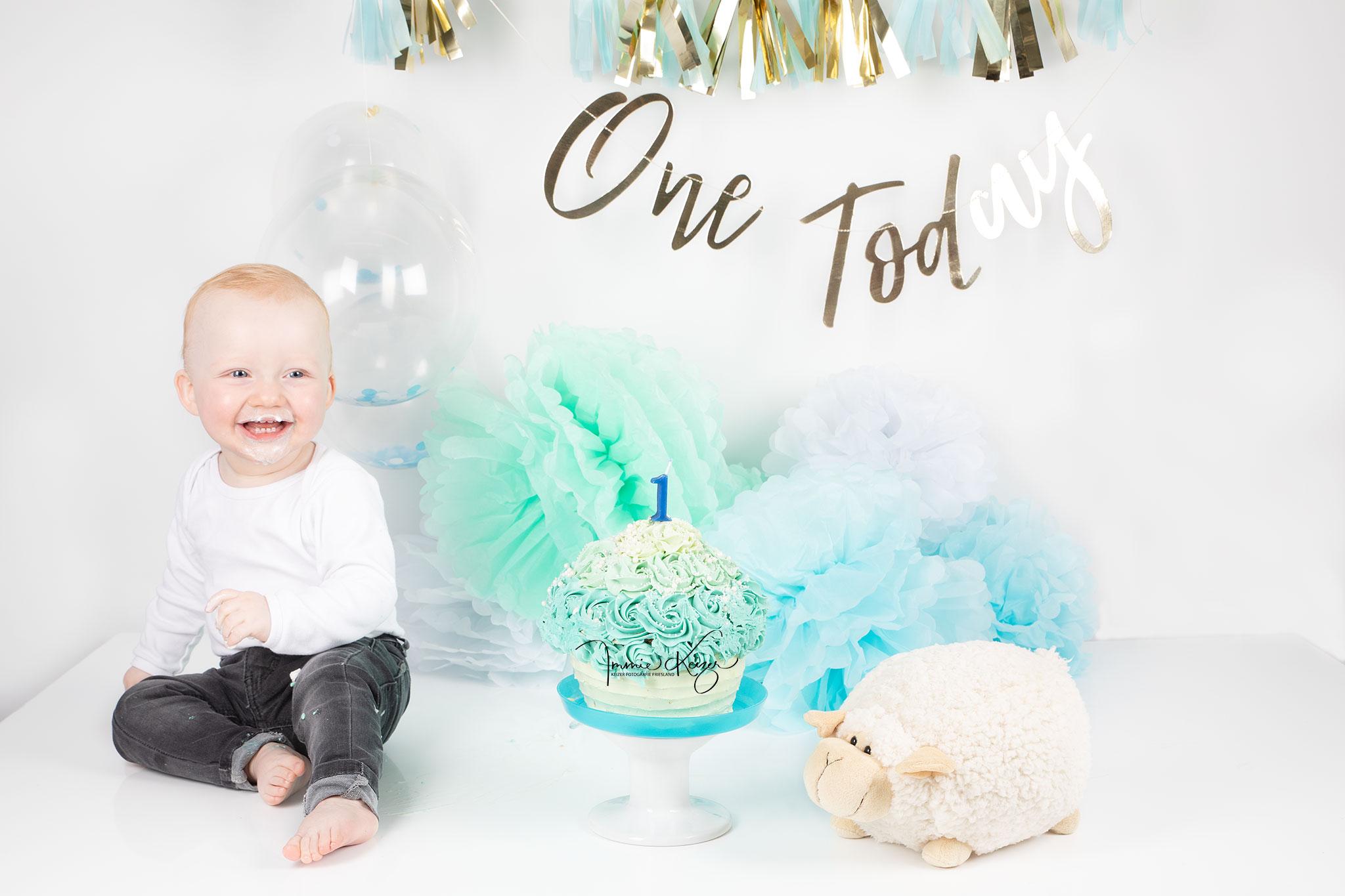 Baby Feestje Cakesmash Fotoshoot
