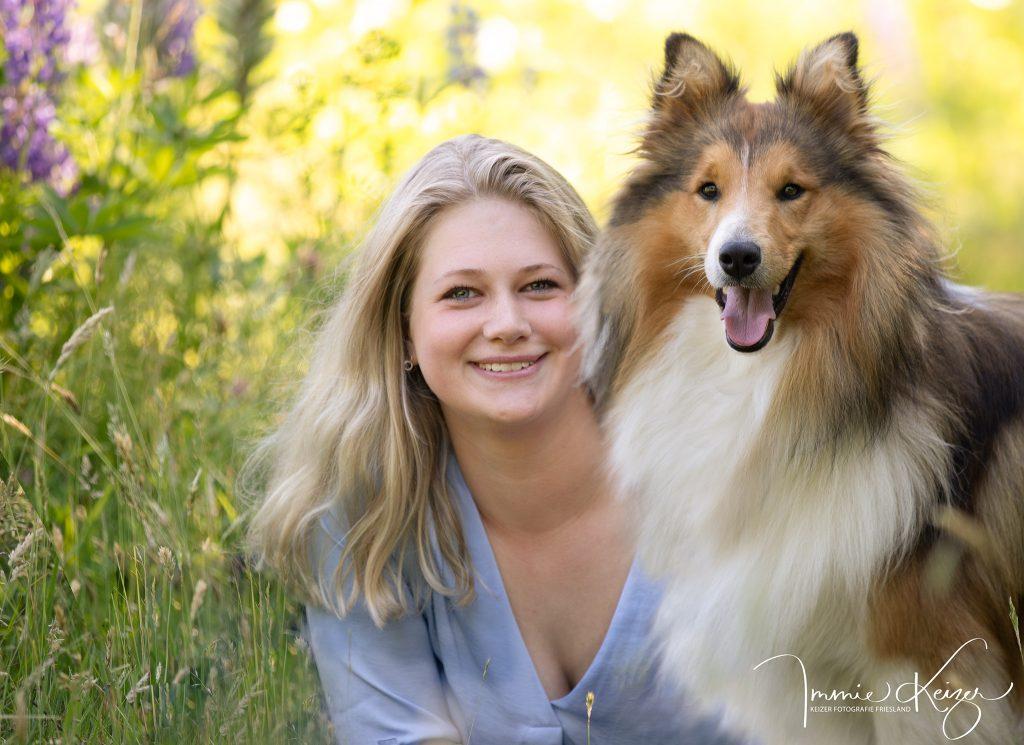 Fotoshoot Hond Compleet meisje met Hond